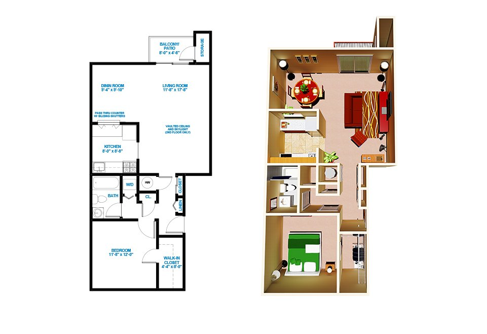 1 Bedroom 1 Bathroom Apartment for rent at Treetops Apartments in Highland Park, NJ