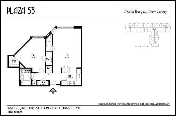 1 Bedroom 1 Bathroom Apartment for rent at Plaza 53 in North Bergen, NJ