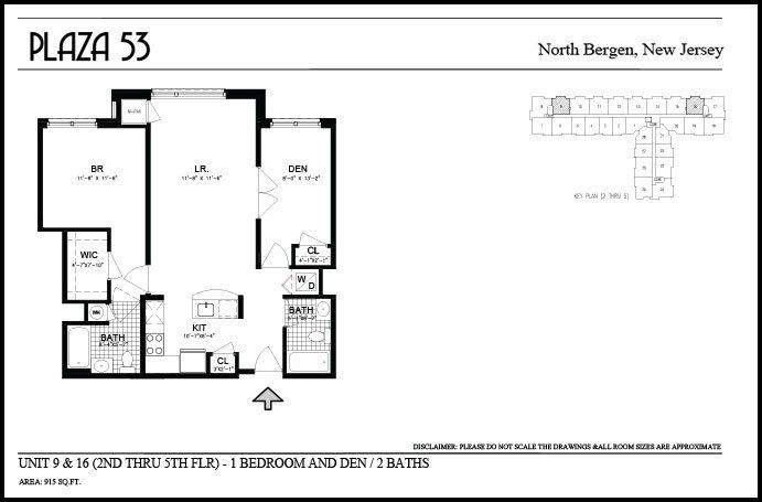 1 Bedroom 2 Bathrooms Apartment for rent at Plaza 53 in North Bergen, NJ