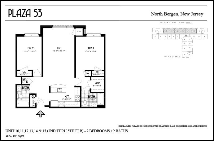 2 Bedrooms 2 Bathrooms Apartment for rent at Plaza 53 in North Bergen, NJ