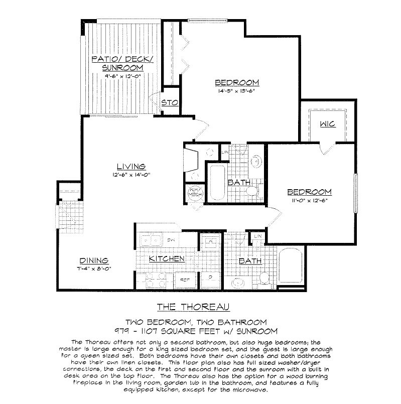 2 Bedrooms 2 Bathrooms Apartment for rent at Concord Apartments in Raleigh, NC