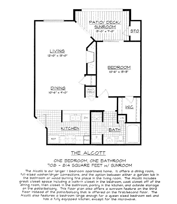 1 Bedroom 1 Bathroom Apartment for rent at Concord Apartments in Raleigh, NC