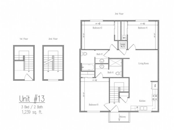 3 Bedrooms 2 Bathrooms Apartment for rent at The Studies in Eugene, OR