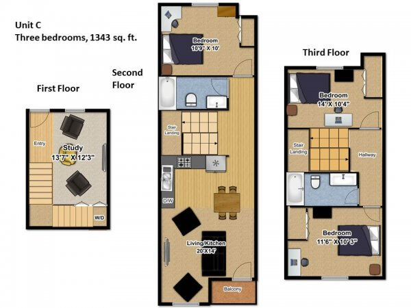 3 Bedrooms 2 Bathrooms Apartment for rent at Gemini Apartments in Eugene, OR