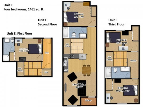 4 Bedrooms 3 Bathrooms Apartment for rent at Gemini Apartments in Eugene, OR