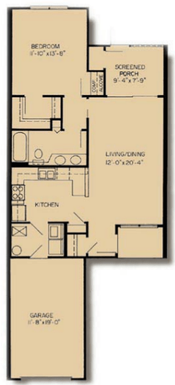 1 Bedroom 1 Bathroom Apartment for rent at Asbury Park in Gainesville, FL