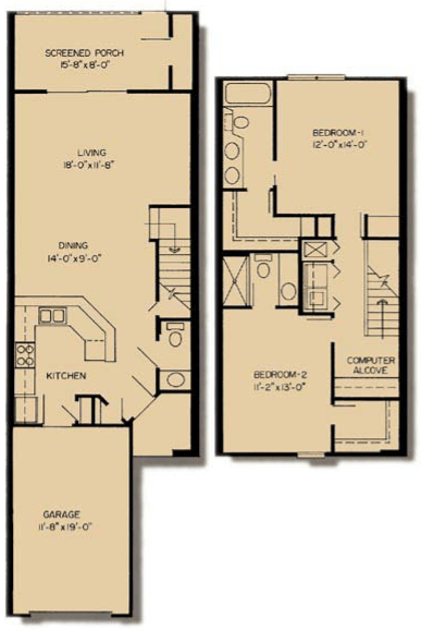 2 Bedrooms 3 Bathrooms Apartment for rent at Asbury Park in Gainesville, FL