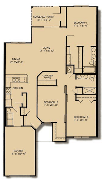3 Bedrooms 2 Bathrooms Apartment for rent at Asbury Park in Gainesville, FL