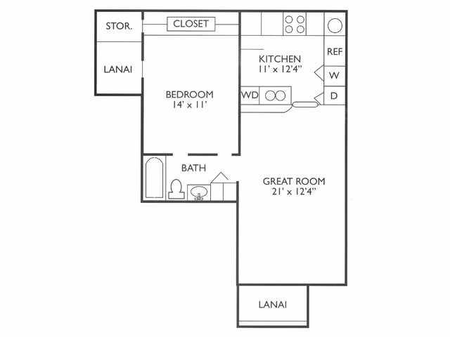 1 Bedroom 1 Bathroom Apartment for rent at Millenia West in Orlando, FL