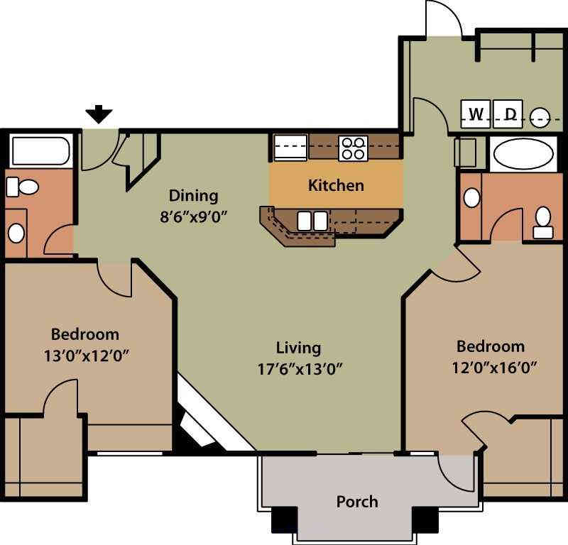 2 Bedrooms 2 Bathrooms Apartment for rent at Aviana At Tuscany in Reno, NV
