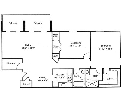 2 Bedrooms 2 Bathrooms Apartment for rent at Goldelm At Cedar Bluff in Knoxville, TN