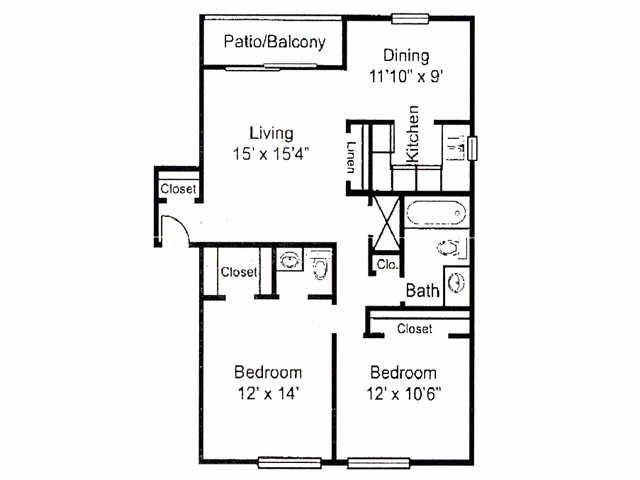 2 Bedrooms 1 Bathroom Apartment for rent at La Esperanza in Jacksonville, FL