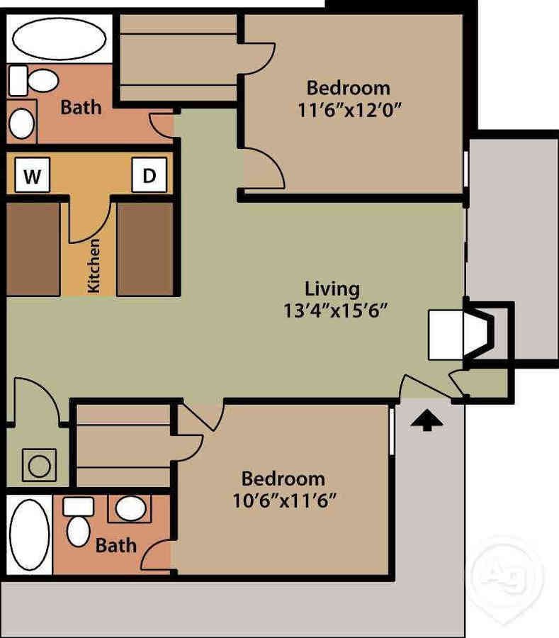2 Bedrooms 2 Bathrooms Apartment for rent at Metropolitan Apartments in Knoxville, TN