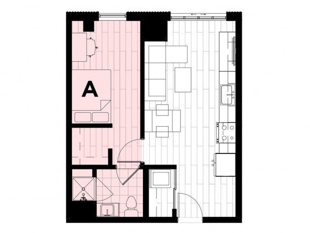 1 Bedroom 1 Bathroom Apartment for rent at Hub on Campus West Lafayette in West Lafayette, IN