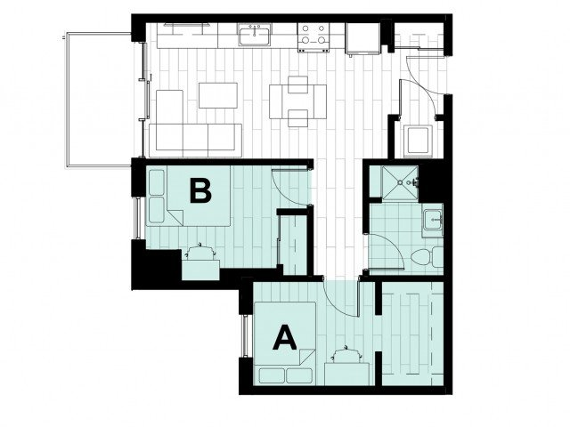 2 Bedrooms 1 Bathroom Apartment for rent at Hub on Campus West Lafayette in West Lafayette, IN