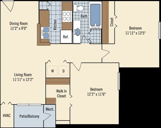 2 Bedrooms 1 Bathroom Apartment for rent at Lakewood Apartments in Haslett, MI