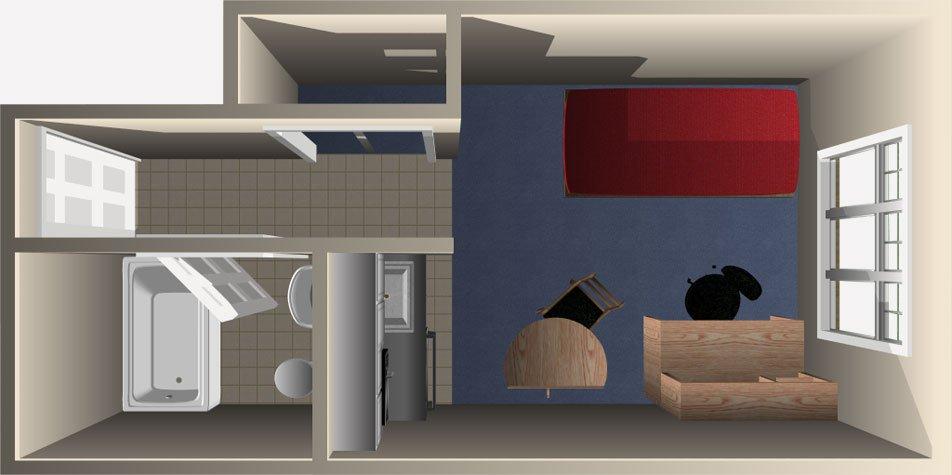 Studio 1 Bathroom Apartment for rent at Harrison Apartments in Columbus, OH