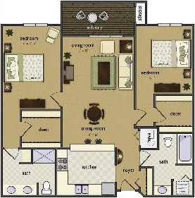 2 Bedrooms 2 Bathrooms Apartment for rent at Wyndham Hill By Broadmoor in Omaha, NE