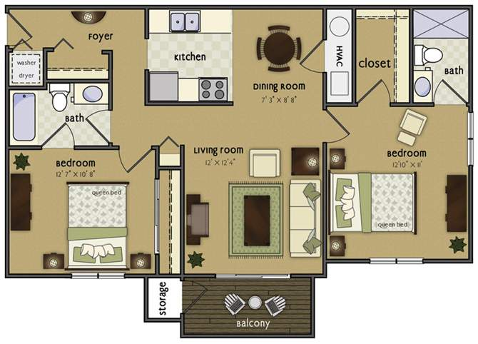 2 Bedrooms 2 Bathrooms Apartment for rent at Glen Oaks By Broadmoor in Sioux City, IA