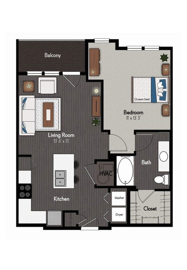 1 Bedroom 1 Bathroom Apartment for rent at Broadmoor At River's Edge in Omaha, NE