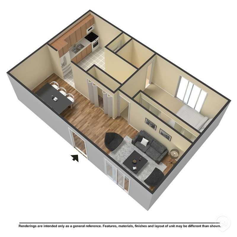 1 Bedroom 1 Bathroom Apartment for rent at Washita Tri-plex in Springfield, MO