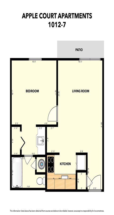 2 Bedrooms 1 Bathroom Apartment for rent at Apple Court in Springfield, MO