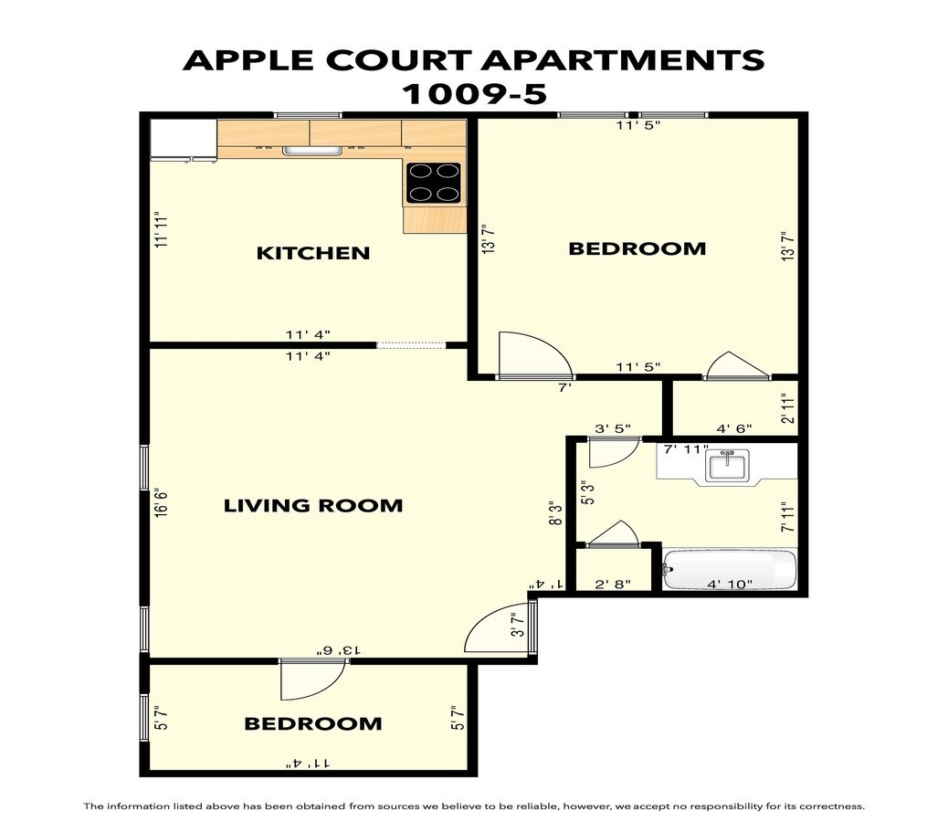 1 Bedroom 1 Bathroom Apartment for rent at Apple Court in Springfield, MO