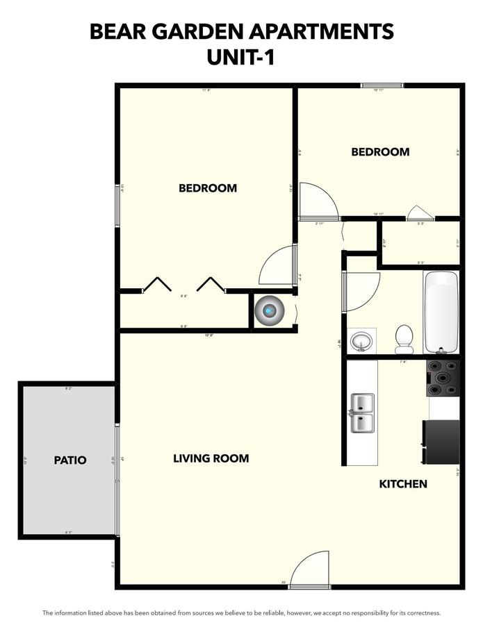 2 Bedrooms 1 Bathroom Apartment for rent at Bear Gardens in Springfield, MO