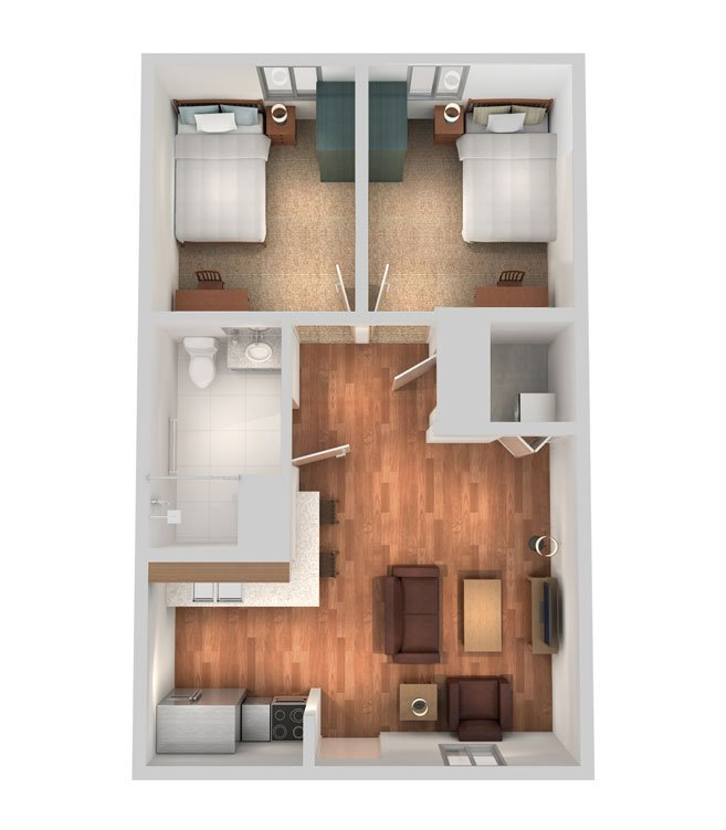 2 Bedrooms 1 Bathroom Apartment for rent at Sterling Campus Center in Charleston, SC