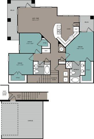 3 Bedrooms 2 Bathrooms Apartment for rent at Ridgeline At Rogers Ranch in San Antonio, TX