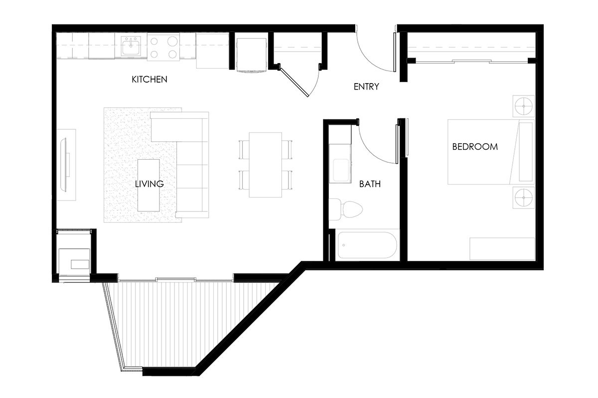 1 Bedroom 1 Bathroom Apartment for rent at The Bridges in Bettendorf, IA
