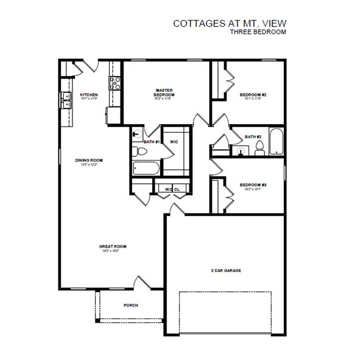3 Bedrooms 2 Bathrooms House for rent at Cottages At Mt. View in Antioch, TN