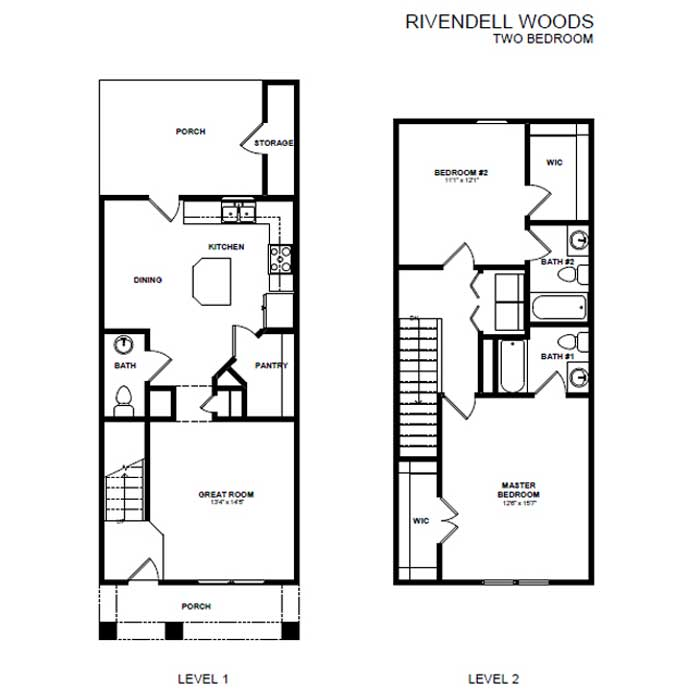2 Bedrooms 2 Bathrooms House for rent at Rivendell Woods in Antioch, TN