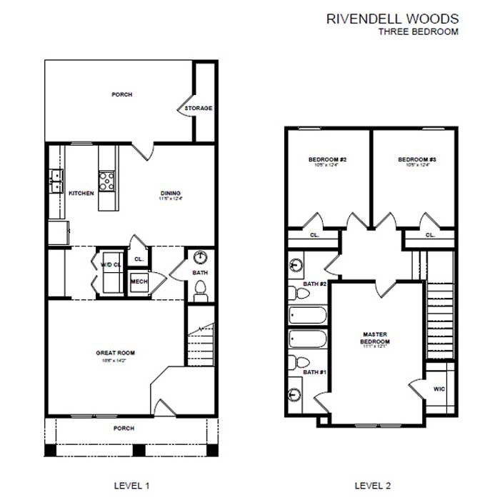 3 Bedrooms 2 Bathrooms House for rent at Rivendell Woods in Antioch, TN