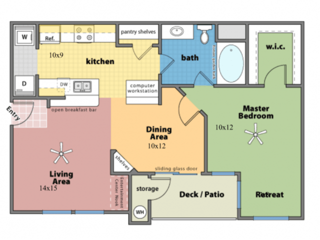 1 Bedroom 1 Bathroom Apartment for rent at Arioso Apartments in Cupertino, CA