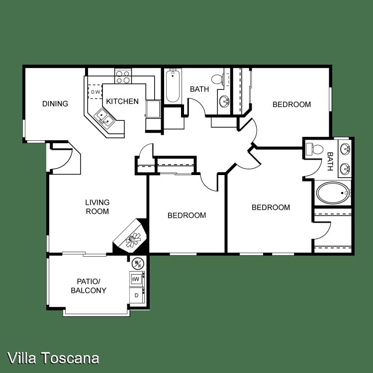 3 Bedrooms 2 Bathrooms Apartment for rent at 1451 Brabham St in El Cajon, CA