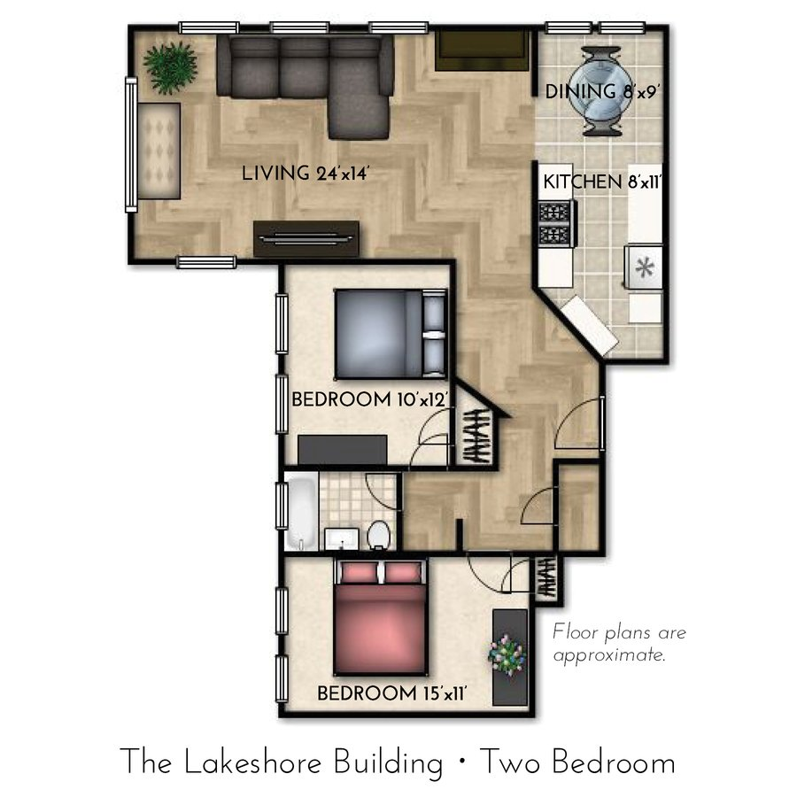 2 Bedrooms 1 Bathroom Apartment for rent at Lakeshore in Milwaukee, WI