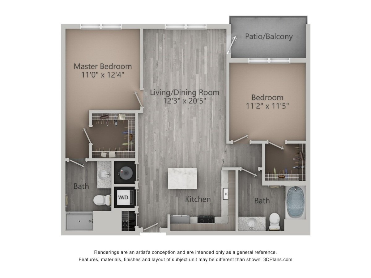 2 Bedrooms 2 Bathrooms Apartment for rent at Brookfield Reserve in Brookfield, WI