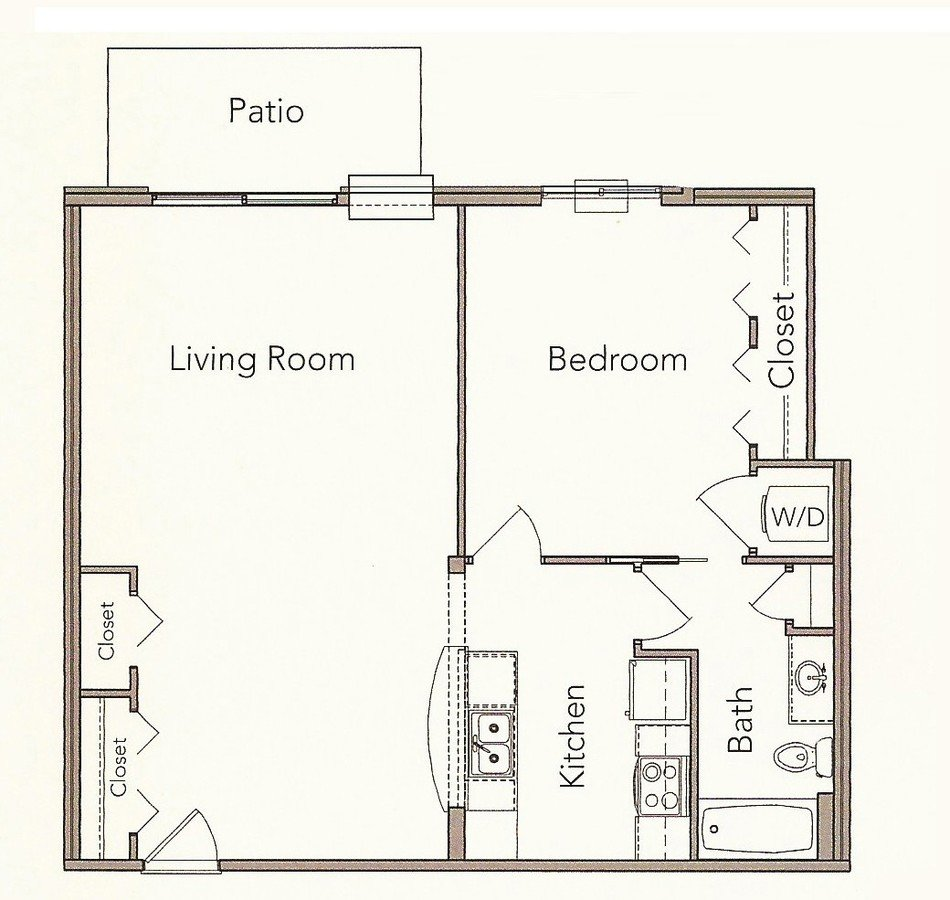 1 Bedroom 1 Bathroom Apartment for rent at Broadway Commons in Waukesha, WI
