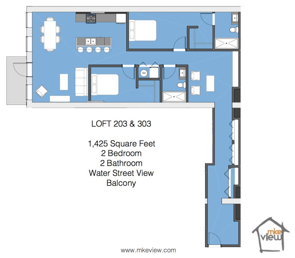 2 Bedrooms 2 Bathrooms Apartment for rent at 325 N Broadway in Milwaukee, WI