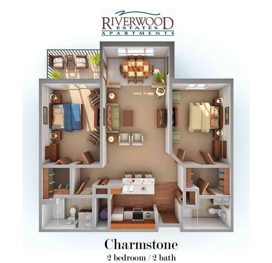 2 Bedrooms 2 Bathrooms Apartment for rent at Riverwood Estates Apartments in Oak Creek, WI