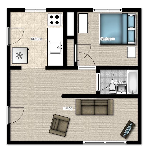 1 Bedroom 1 Bathroom Apartment for rent at Ardmore Terrace Apartments in Shorewood, WI