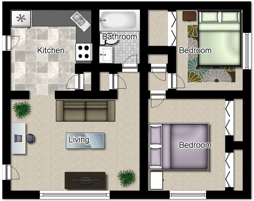 2 Bedrooms 1 Bathroom Apartment for rent at Westover Apartments in Milwaukee, WI