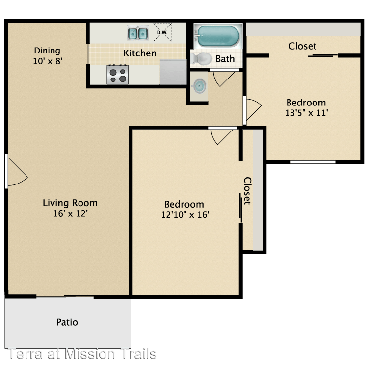 2 Bedrooms 1 Bathroom Apartment for rent at 7707 Mission Gorge Road in San Diego, CA