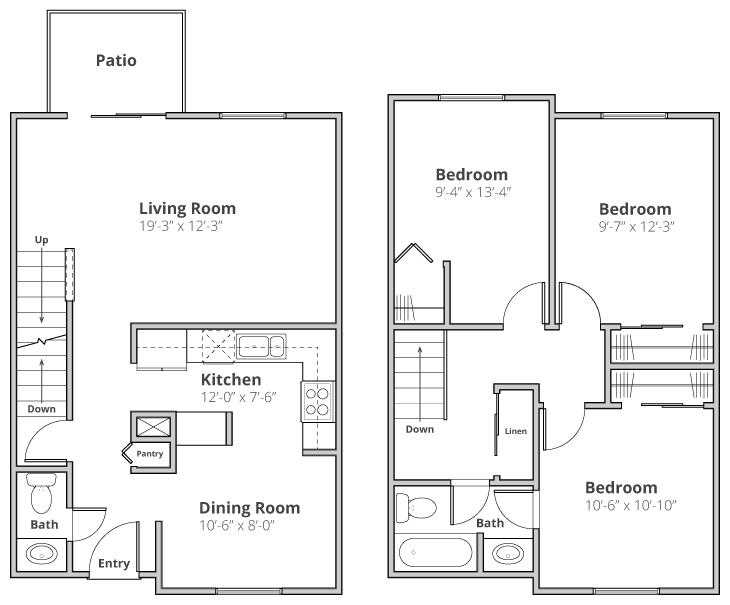 3 Bedrooms 2 Bathrooms Apartment for rent at Benson Hills in Haslett, MI