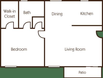 1 Bedroom 1 Bathroom Apartment for rent at Hidden Creek Apartments in Sacramento, CA