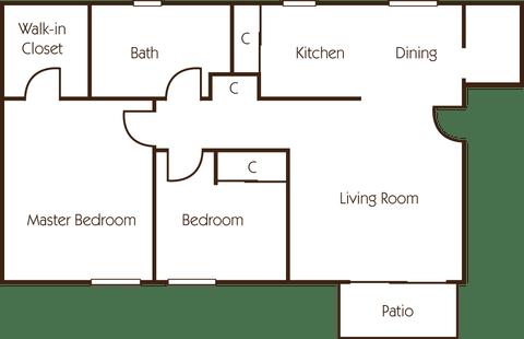 2 Bedrooms 1 Bathroom Apartment for rent at Hidden Creek Apartments in Sacramento, CA