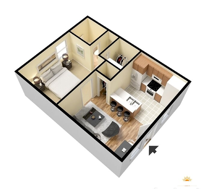 1 Bedroom 1 Bathroom Apartment for rent at Hyde Park Court Apartments - North Campus in Austin, TX