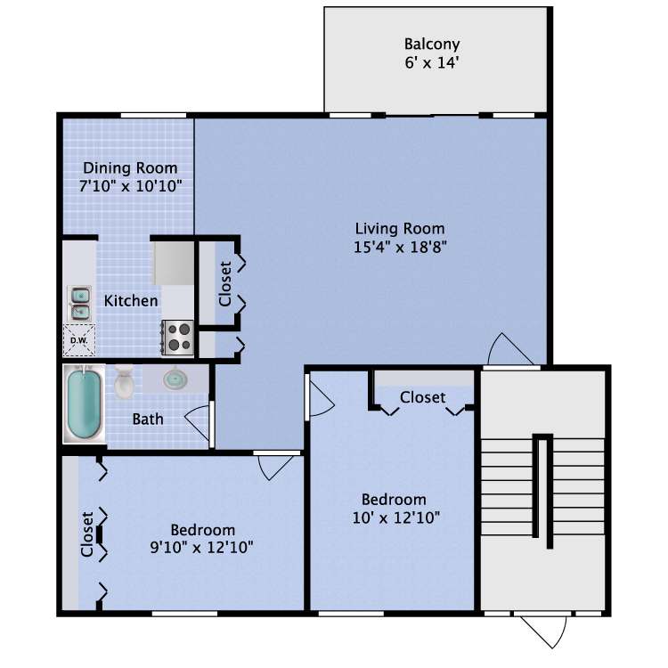 2 Bedrooms 1 Bathroom Apartment for rent at Fitzsimons Junction in Aurora, CO