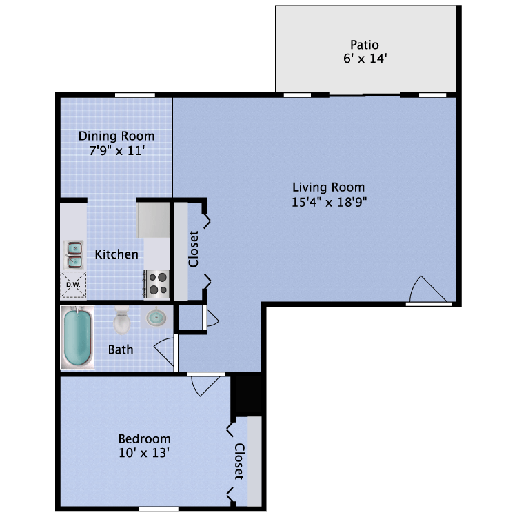 1 Bedroom 1 Bathroom Apartment for rent at Fitzsimons Junction in Aurora, CO